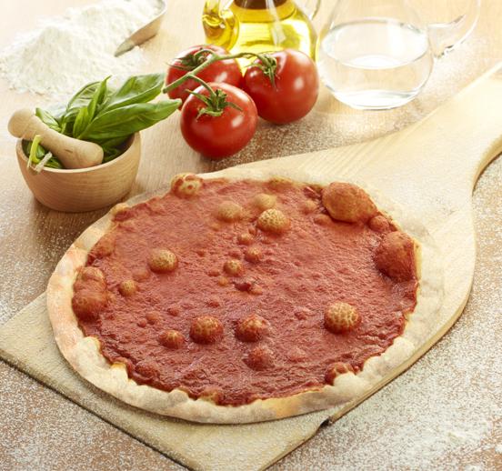 Base de pizza con tomate 28cm