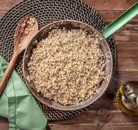 Quinoa blanca, roja y bulgur