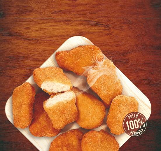 Nuggets de pollo rebozado fino